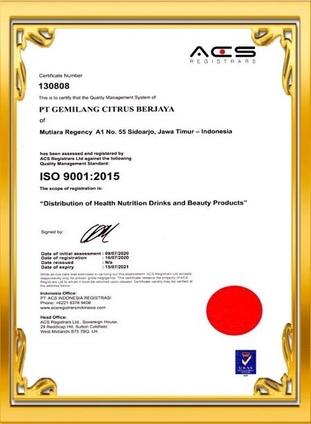 International ISO 9001:2015